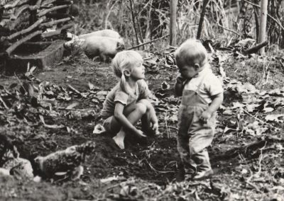 Playing with pigs 1971